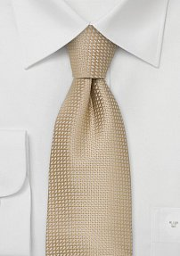 Tan Colored Silk Tie