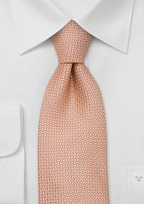 Orange Silk Tie by Designer Chevalier