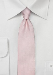 Light Pastel Pink Skinny Tie