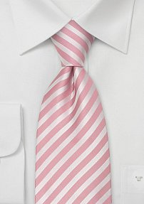 Pink and Rose Striped Silk Tie