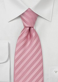 Elegant Rose-Pink Silk Tie for Men