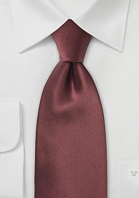 Solid Necktie in Chestnut Brown