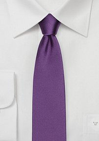 Pure Silk Skinny Tie in Violet Purple