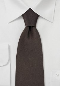 Mens Neck Tie in Dark Brown