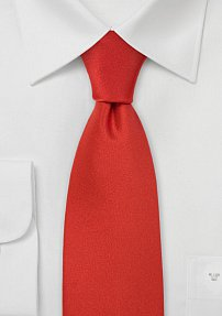 Mens Tie in Solid Scarlet-Red