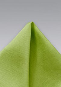 Solid Silk Pocket Square in Apple Green