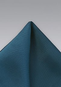 Solid Color Pocket Square in Turquoise Blue