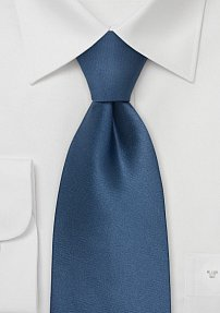 Solid Colored Tie in Dragonfly Blue