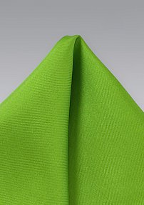 Bold Lime Green Pocket Square in Pure Silk