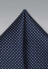 Midnight Blue Hanky with Tiny White Dots