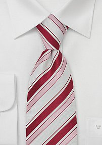 Summer Tie in Pink and White