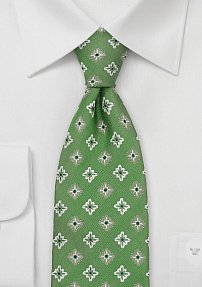 Designer Silk Tie With Fine Floral Pattern