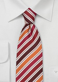 Designer Tie Orange White Red