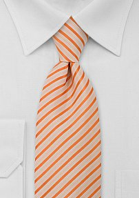 Mens Tie in Orange and White