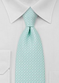 Light Turquoise Mens Necktie in XL Length