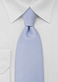 Periwinkle Blue and Pink Mens Tie