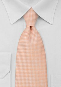 Solid Pale Orange Tie in XL