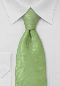 Solid Pale Green Necktie
