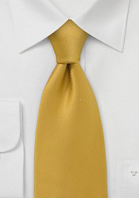 Solid Ribbed Tie Mustard Yellow