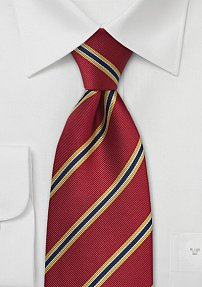 Extra Long Red Regimental Tie