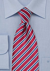Ruby Red - Royal Blue Necktie