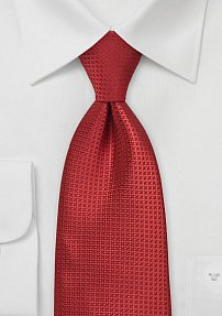 Silk Tie in Crimson Red
