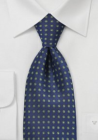 Blue and Green Polka Dot Tie