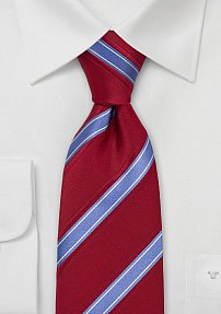Designer Tie in Red and Bright Blue