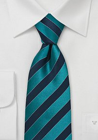 Extra Long Tie in Teal and Blue