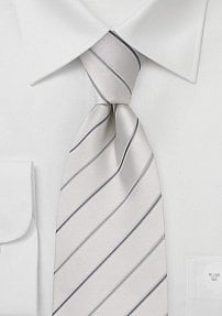 Formal White Tie with Stripes