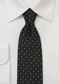 Black Polka Dot Necktie