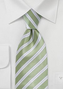 Striped Tie in Citron Green