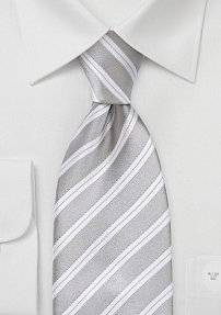Soft Silver and Ivory Tie