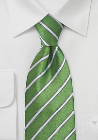 Organic Green and White Tie
