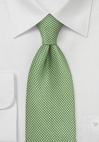Solid and Textured Organic Green Tie