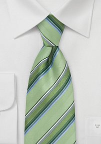 Striped Tie in Greens