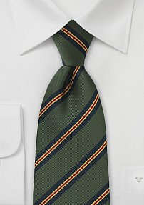 Schoolboy Tie in Forest Green