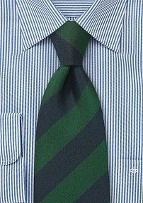 Regimental Tie in Dark Green and Navy