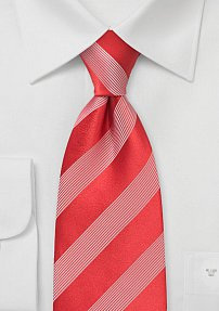 High Style Red and White Tie