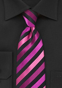 Striped Tie in Electric Pinks