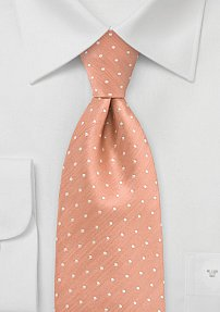 Polka Dot Tie in Weathered Rose Color