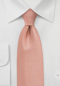 Handsome Patterned Tie in Mango
