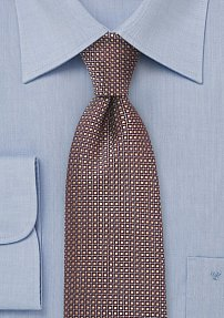 Gold and Bronze Patterned Necktie