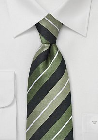 Sophisticated Striped Tie in Greens