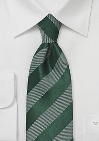 Men's Striped Tie in Muted Green