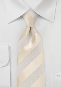 Parisian Yellow and Ivory Striped Tie