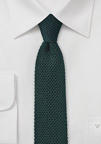 Slim Knit Tie in Ivy Green