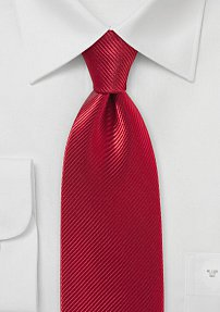 Heavy Red Colored Necktie Made from 100% Silk