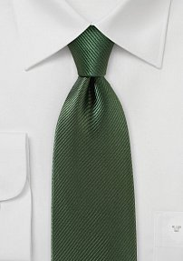 Elegant Tie in Deep Forest Green Shade