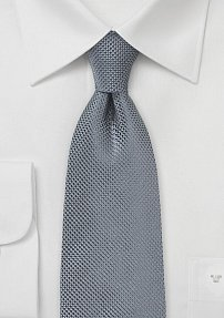 Handmade Charcoal Colored Tie in Silk